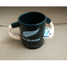 Baseball Handle Ceramic Mug, Baseball Mug