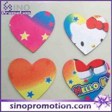 Adorável Olá Kitty Coração Forma Coasters Cup Pad Mat