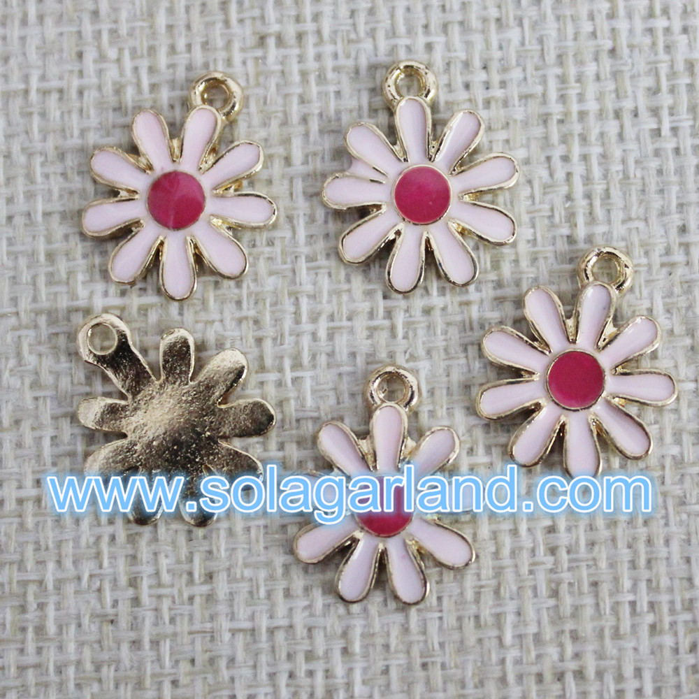 14MM Flower Metal Pendants