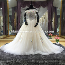 Special Design Bridal Gown Open Back Pearls Beading Lace See Through Satin Lining Custom Wedding Dress