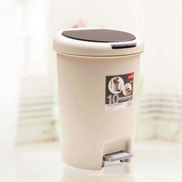 Round Pedal 10L Plastic Waste Bin