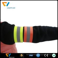 Braceletes reflexivos baratos amigáveis da faixa do braço do estiramento amigável do eco