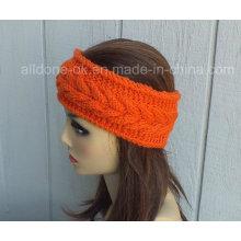Hand Knit Headband Turban Ear Warmer Headwear Cable Hair Bands