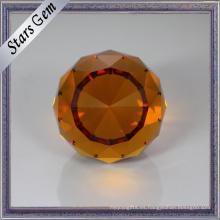 Buen pulido brillo facetado corte hermoso color cuentas de vidrio