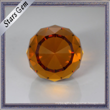 Good Polished Brilliant Faceted Cut Beautiful Color Glass Beads