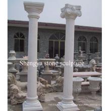 Weiße Marmor Stein Skulptur Spalte (SY-C013)