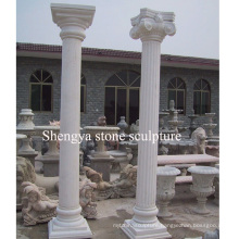 White Marble Stone Sculpture Column (SY-C013)