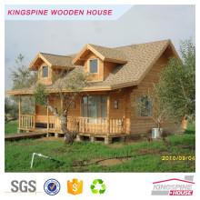 Casa pré-fabricada de toras de madeira maciça