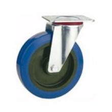 Roulette à roulement en caoutchouc industriel pivotant (KXX2-D)