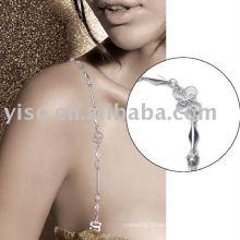 Bracelet en cuir rhinestone charmant
