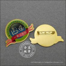 Insignia de organización, pin de solapa de metal epoxi-goteo personalizado (GZHY-LP-022)