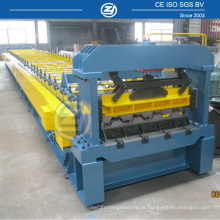 Rolo de plataforma de piso de construção dá forma à máquina