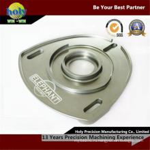 Хорошее качество CNC алюминия Филируя подвергая механической обработке прогиба пластины тела от центра с ЧПУ