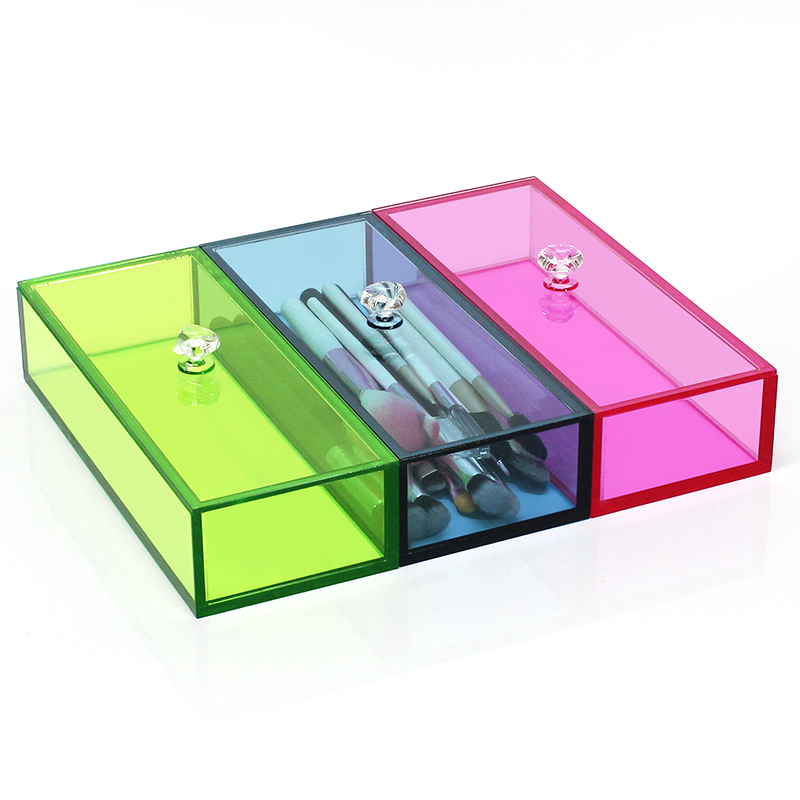Acrylic Colored Rectangular Boxes