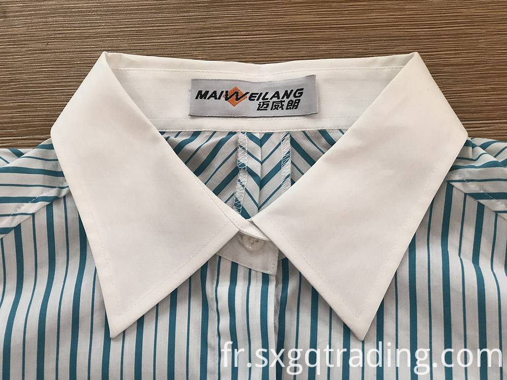 contrast collar female shirt