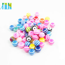 High Quality Transparent Stripe Round Resin Beads In Stock 6-24mm