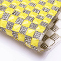 Fluorescent Yellow Rhinestone Trim