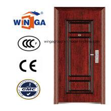 Puerta de acero inoxidable de hierro del mejor precio de la seguridad del precio (WS-121)