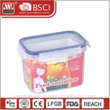 Boîte de rangement en plastique alimentaire de 1000ML avec bague d'étanchéité