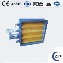 Rectangular self adjustable louver butterfly valve manual