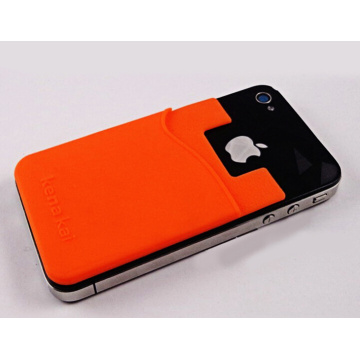 Custom Made teléfono móvil pegajoso titular de la tarjeta de silicona
