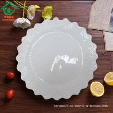 Forma de engranaje Placas de cerámica al por mayor de los tapas, placas de la porcelana