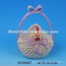 Керамические переносные пасхальные корзины для хранения яиц