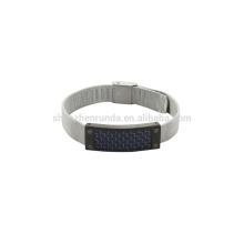 Montre en acier inoxydable en acier inoxydable 8mm en fibre de carbone bleu sur ventes
