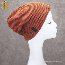 Venta al por mayor de ganchillo fresco invierno Mens Beanie Hat para cálido