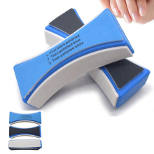 Hot sale plastic handle nail file 4-Way Nail File buffer
