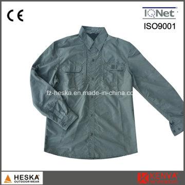 Men′s exército estilo 100% Nylon Workwear camisa de manga comprida