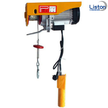 PA Mini Electric Wire Rope Hoist dengan Troli