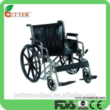 Extra width and heavy duty chrome steel wheelchair