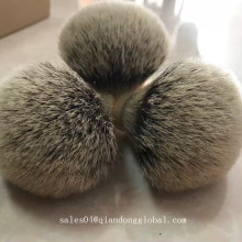 High Quality Bulb Shape Silvertip Badger Hair Knot