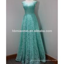 Nouveau design long mince perlé adulte robe cape épaule cendres musulman robe de mariée 2015