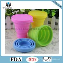Tasse en silicone de tasse en silicone tasse de café pliable pour voyage 200 ml