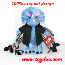 Plush Dinosaur Party Toy with Clothes