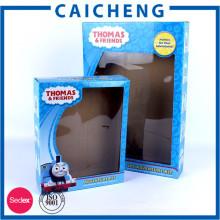 Подгонянные e каннелюру гофрированные коробки мягкие игрушки упаковывая