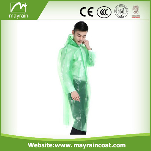 Disposable PE Adult Rainwear