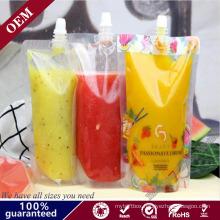 Stand up Suction Nozzle Bag/Lemon Juice Packaging Spout Pouch