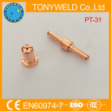 plasma consumables pt31 long electrode gas cutting tip