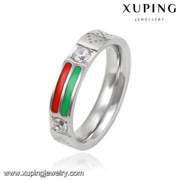 13941 мода прохладный Серебряный позолоченный ювелирных изделий из нержавеющей стали палец кольцо с кубический циркон