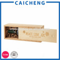 Regalo de lujo que empaqueta la caja de madera sólida para el vino