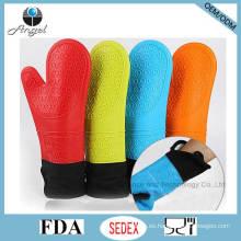 Guante resistente al calor más grueso y guante de silicona más largo FDA aprobó Sg09