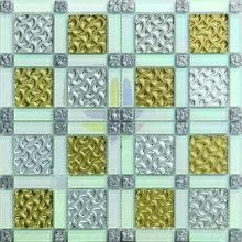 Most Popular Gold Leaf Glass Mosaic Tile in Foshan (AJ2A1610)