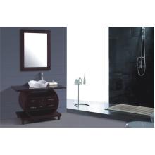 Muebles del gabinete de cuarto de baño del PVC los 70cm (B-252)