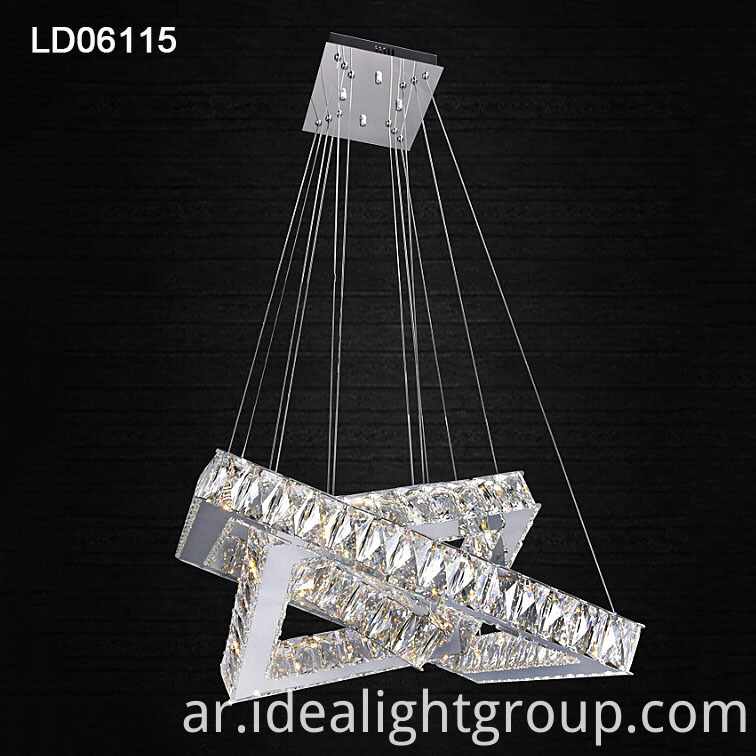 modern steel crystal lighting