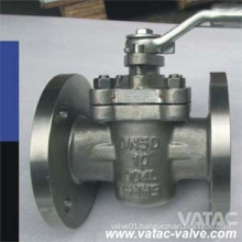 Wcb/CF8/CF8m Body Sleevetype Plug Valve with PTFE Sleeve