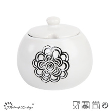 Homestyle Simple Glazing Silk Screen Sugar Pot
