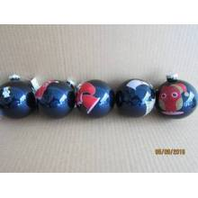 Azul, vidro, bola, animal, decalque, natal, decoração